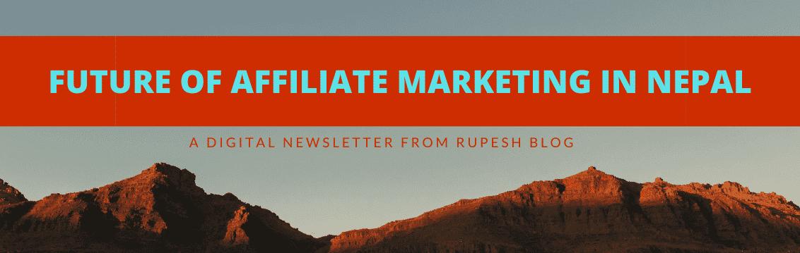 Future of Affiliate marketing in nepal